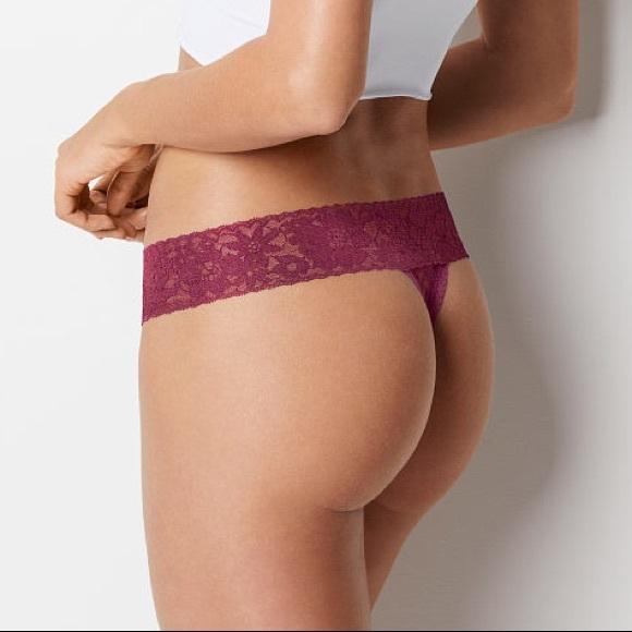 7d0abdc4759a5 Victorias Secret LACIE Floral Lace Thong Panty Kir